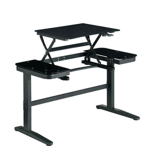 Techni Mobili Ergonomic Pneumatic Adjustable Standing Desk, Black - AlzaDesk