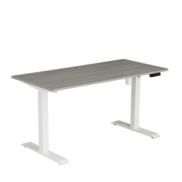 Techni Mobili Automatic Sit to Stand Desk, Grey