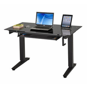 "Techni Mobili 48"" Adjustable Standing Desk, Black - AlzaDesk"
