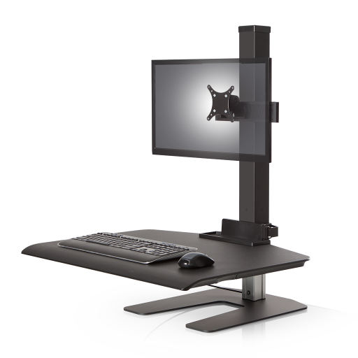 Innovative Winston Workstation Single Sit-Stand Compact Surface - AlzaDesk