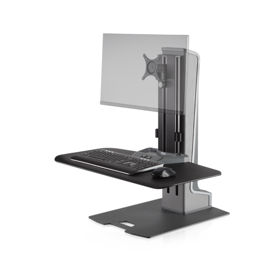 Innovative Winston-E Sit-Stand Workstation Single Monitor Mount - Compact Work Surface - AlzaDesk
