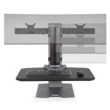 Innovative Winston-E Sit-Stand Workstation Dual Monitor Mount - AlzaDesk