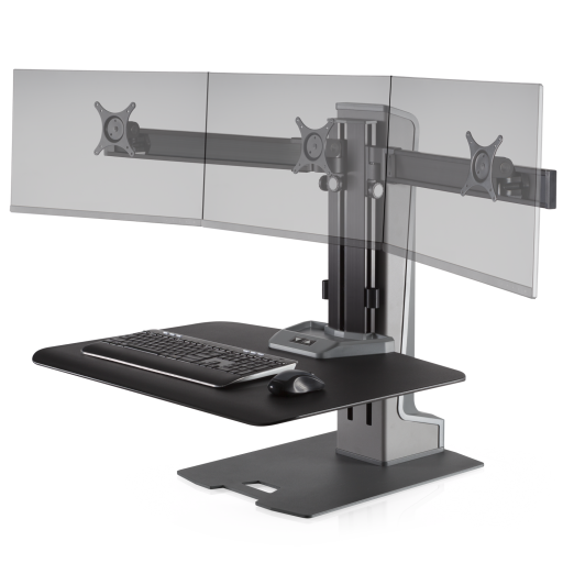 Innovative Winston-E Sit-Stand Workstation Triple Monitor Mount - AlzaDesk