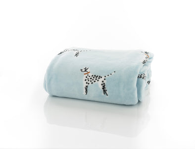 Dalmatian Printed Flannel Throw