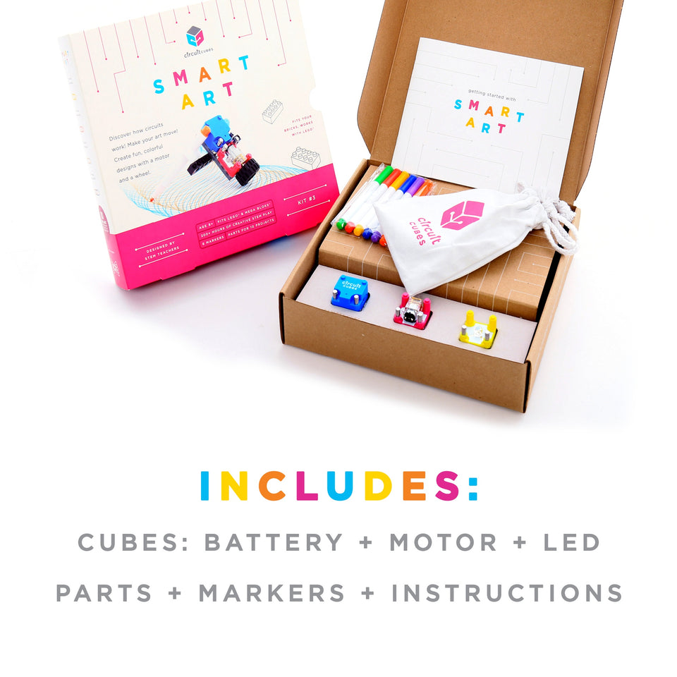 STEM Toy - Circuit Cubes Smart Art Kit