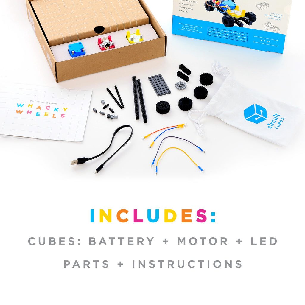 STEM Toy - Circuit Cubes Whacky Wheels Kit