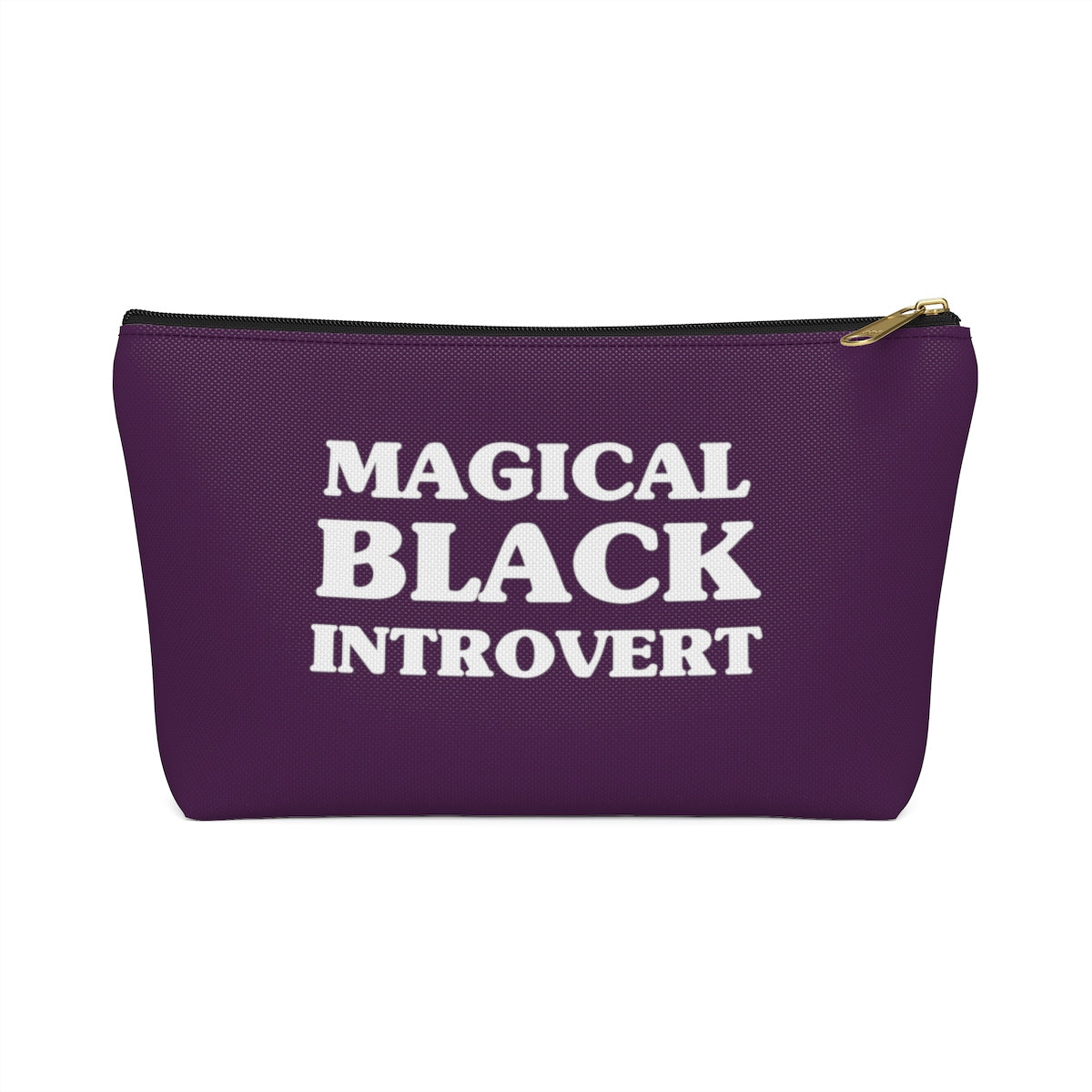 Magical Black Introvert Violet Accessory Pouch w T-bottom