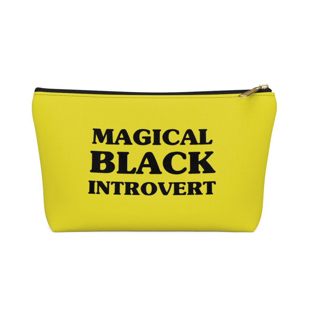 Magical Black Introvert Yellwo Accessory Pouch w T-bottom