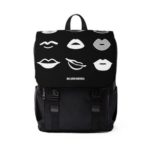 Lip Diversity Unisex Casual Shoulder Backpack