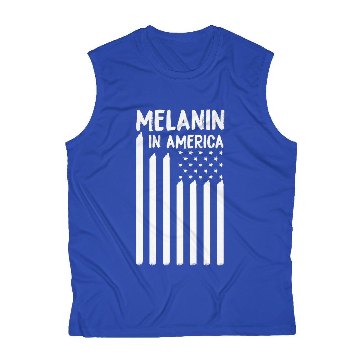 Melanin in America Men's Sleeveless Performance Tee