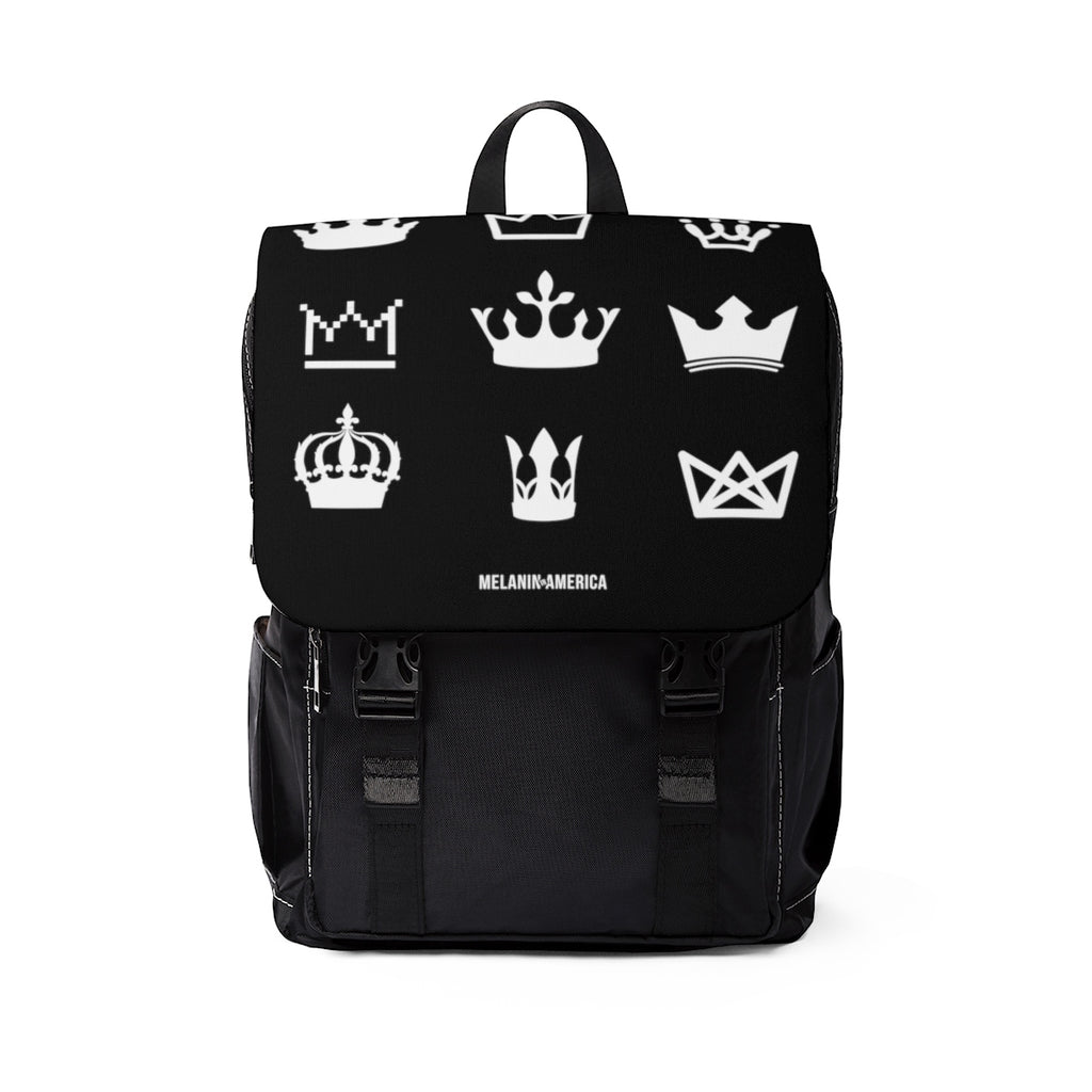 Rock Your Crown Unisex Casual Shoulder Backpack