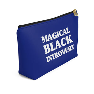 Magical Black Introvert Royal Blue Accessory Pouch w T-bottom