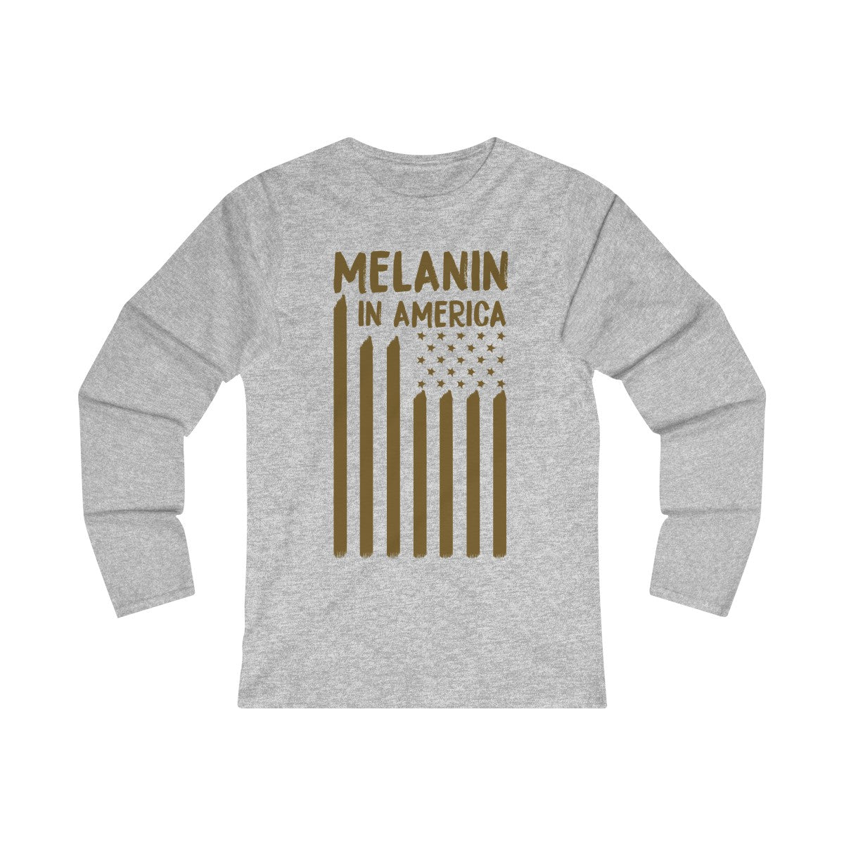 Melanin in America Women's Fitted Long Sleeve Tee