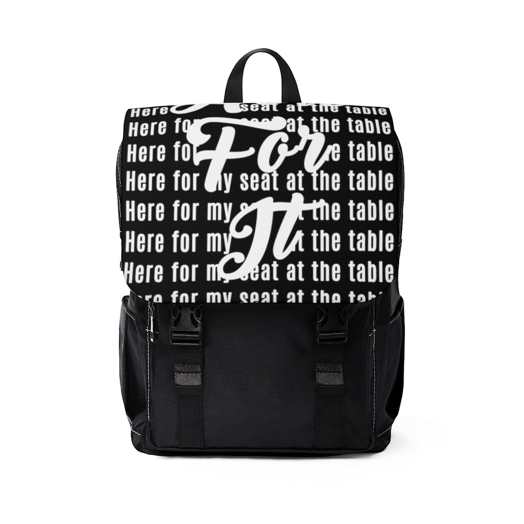 Here for My Seat at the Table Unisex Casual Shoulder Backpack