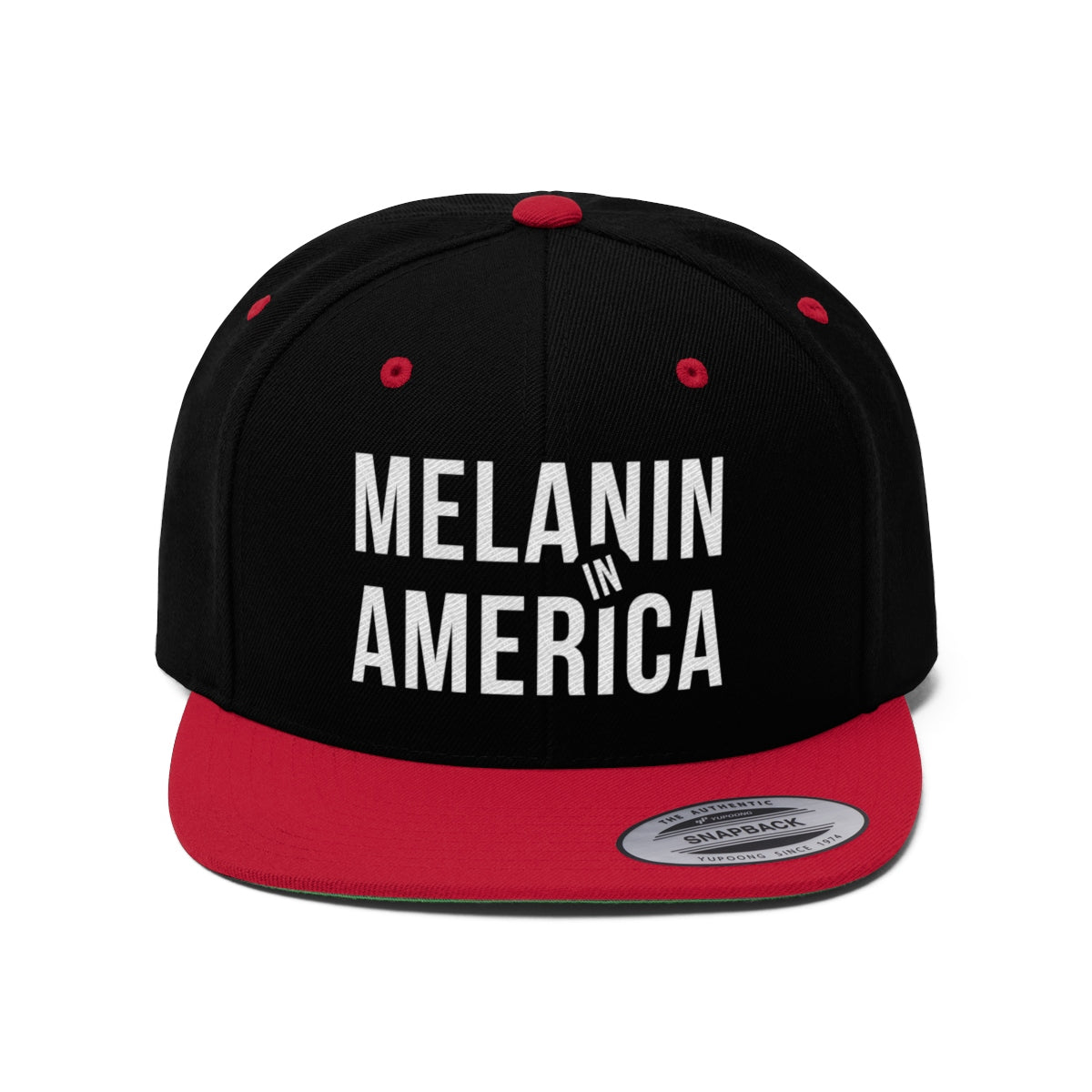 Melanin in America Unisex Flat Bill Hat