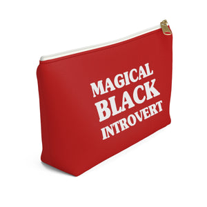 Magical Black Introvert Red Accessory Pouch w T-bottom