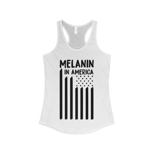 Melanin in America Women's Ideal Racerback Tank
