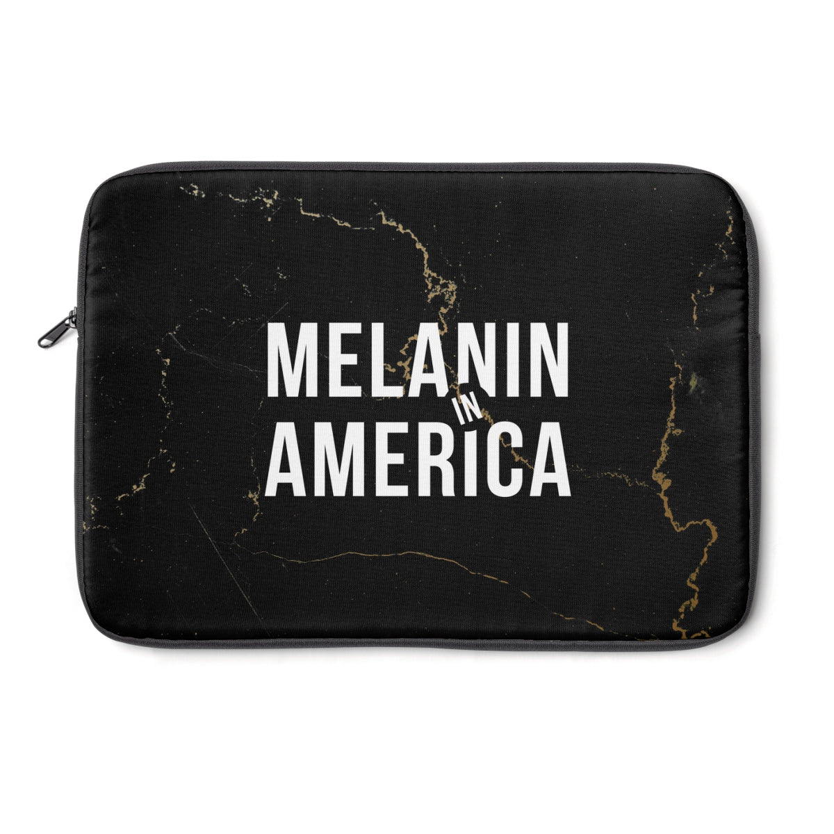Melanin in America Gold Marble Laptop Sleeve