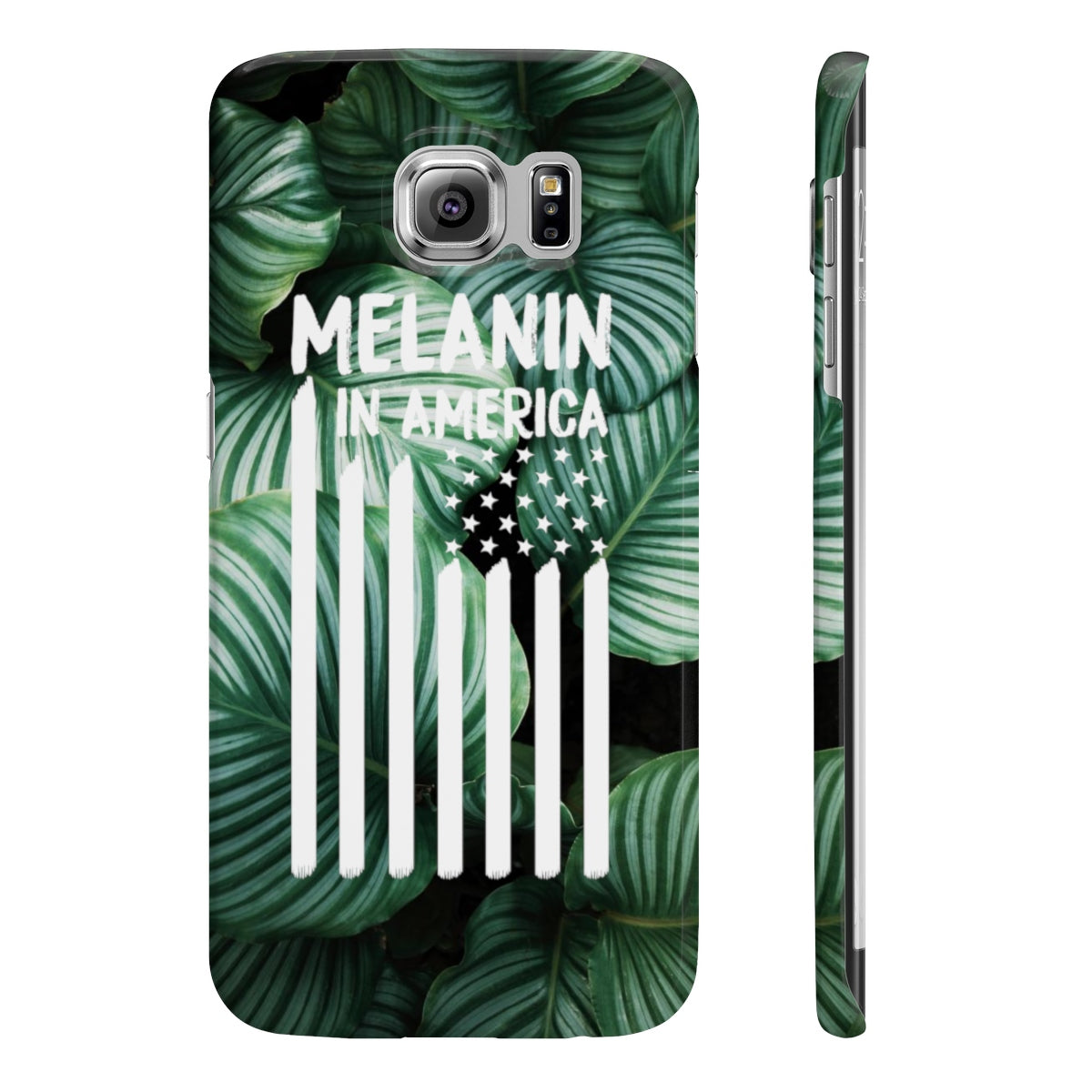 Melanin in America Tropical Wpaps Slim Phone Cases