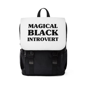 Magical Black Introvert Unisex Casual Shoulder Backpack