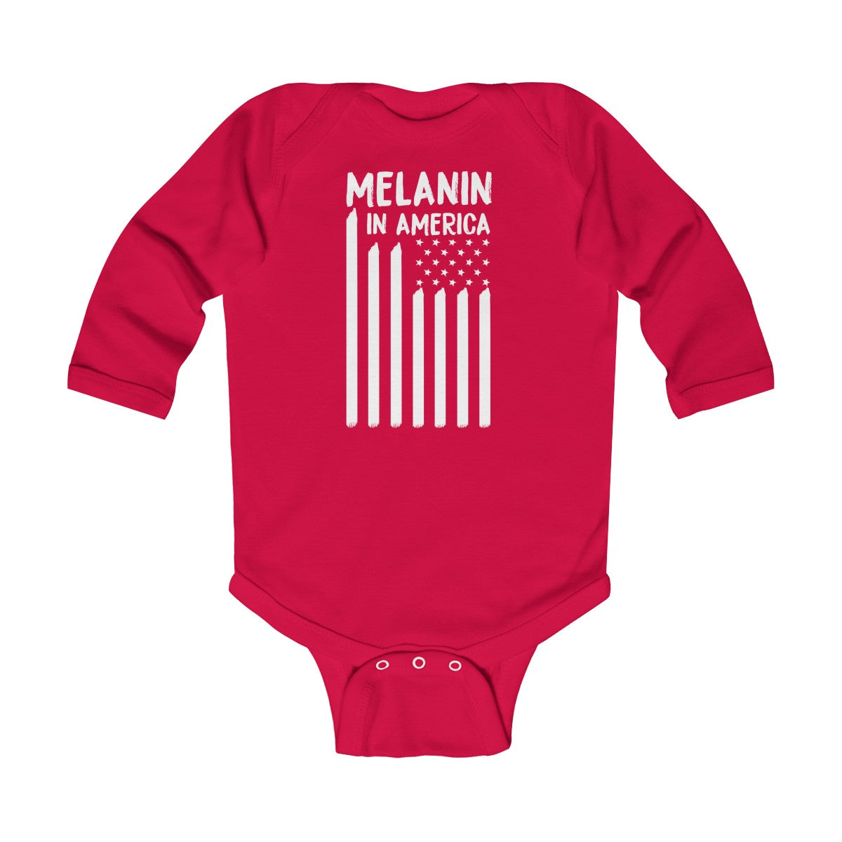 Melanin in America Infant Long Sleeve Bodysuit