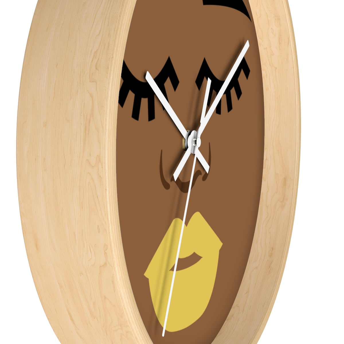 Popping in Yellow Wall clock