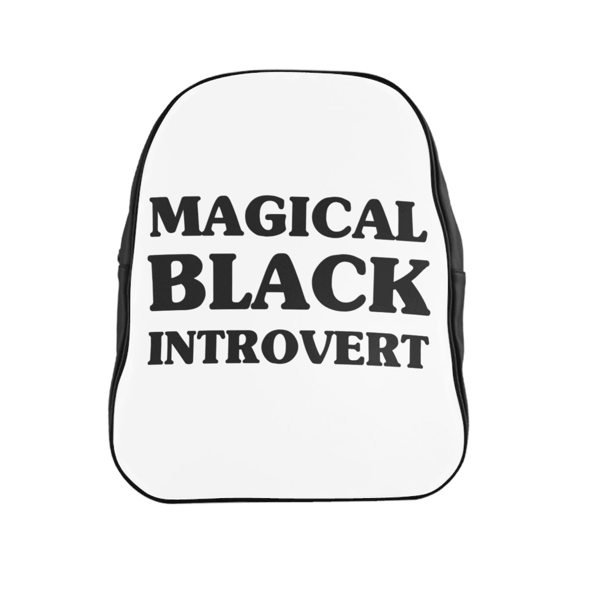 Magical Black Introvert School Backpack