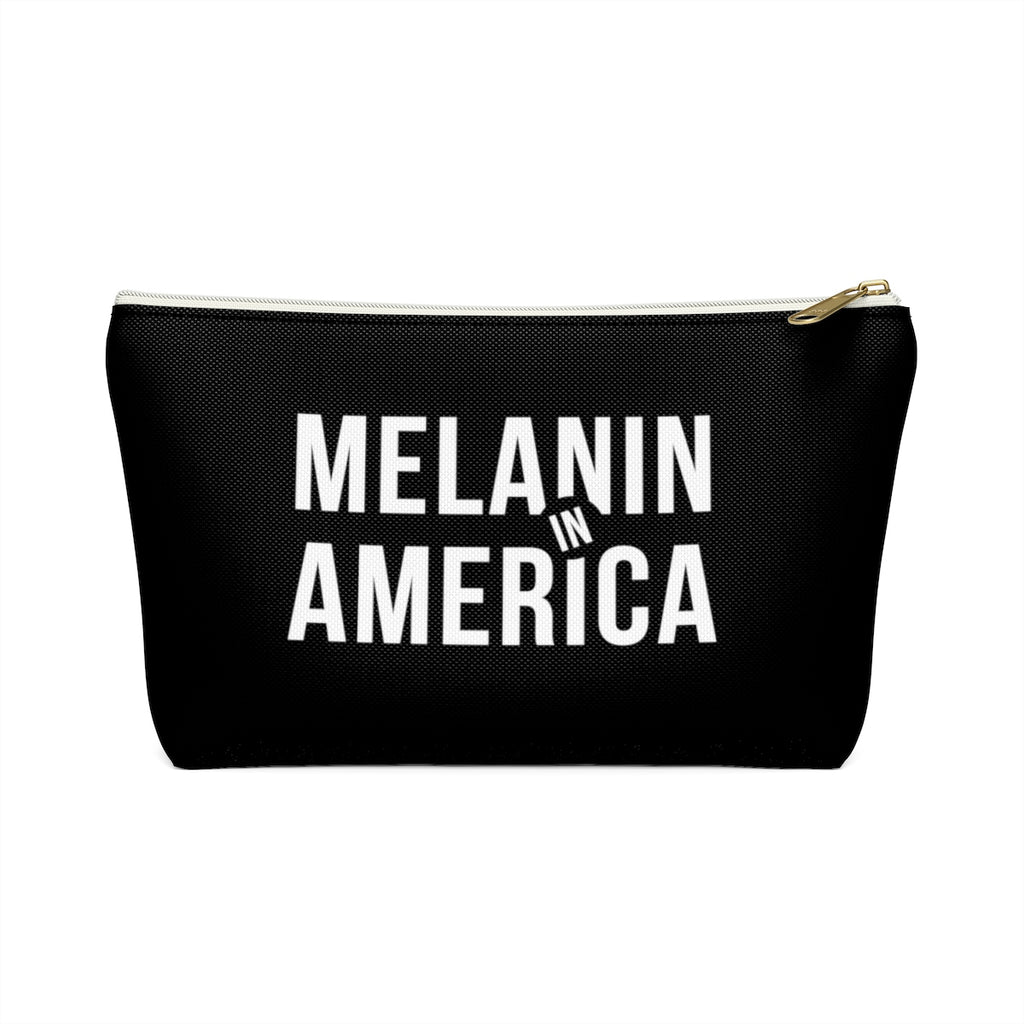 Melanin in America Accessory Pouch w T-bottom