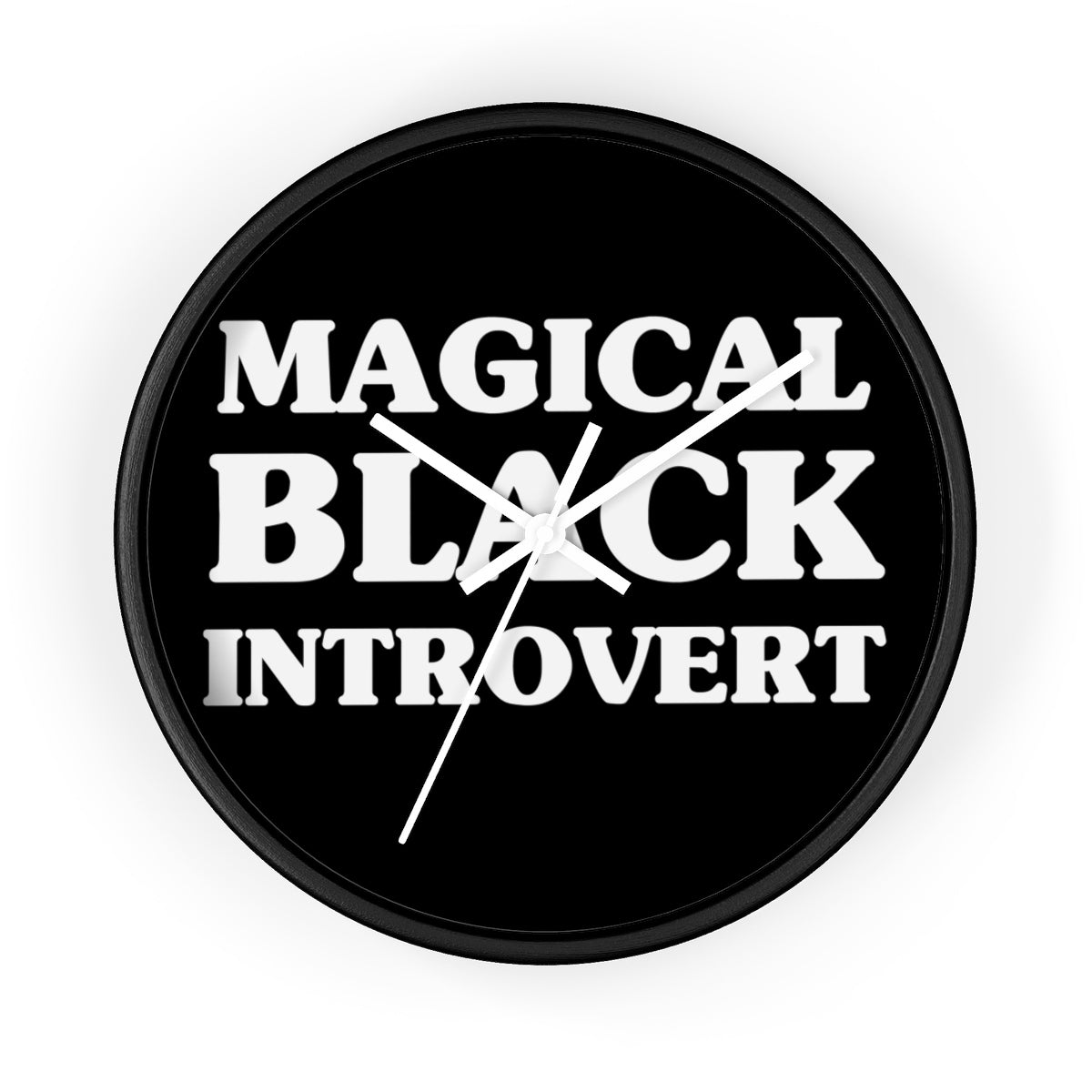 Magical Black Introvert Wall clock