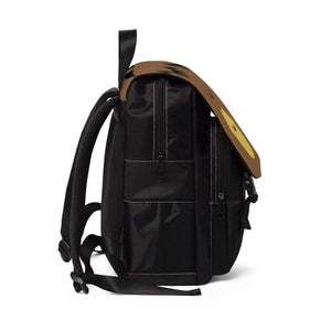 Popping in Yellow Unisex Casual Shoulder Backpack