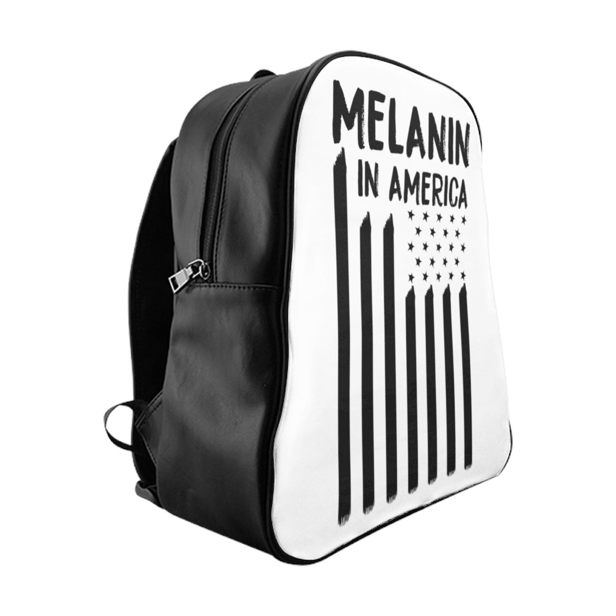 Melanin in America Black Swag School Backpack