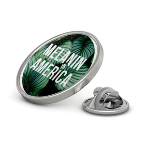 Melanin in America Palm Tree Metal Pin