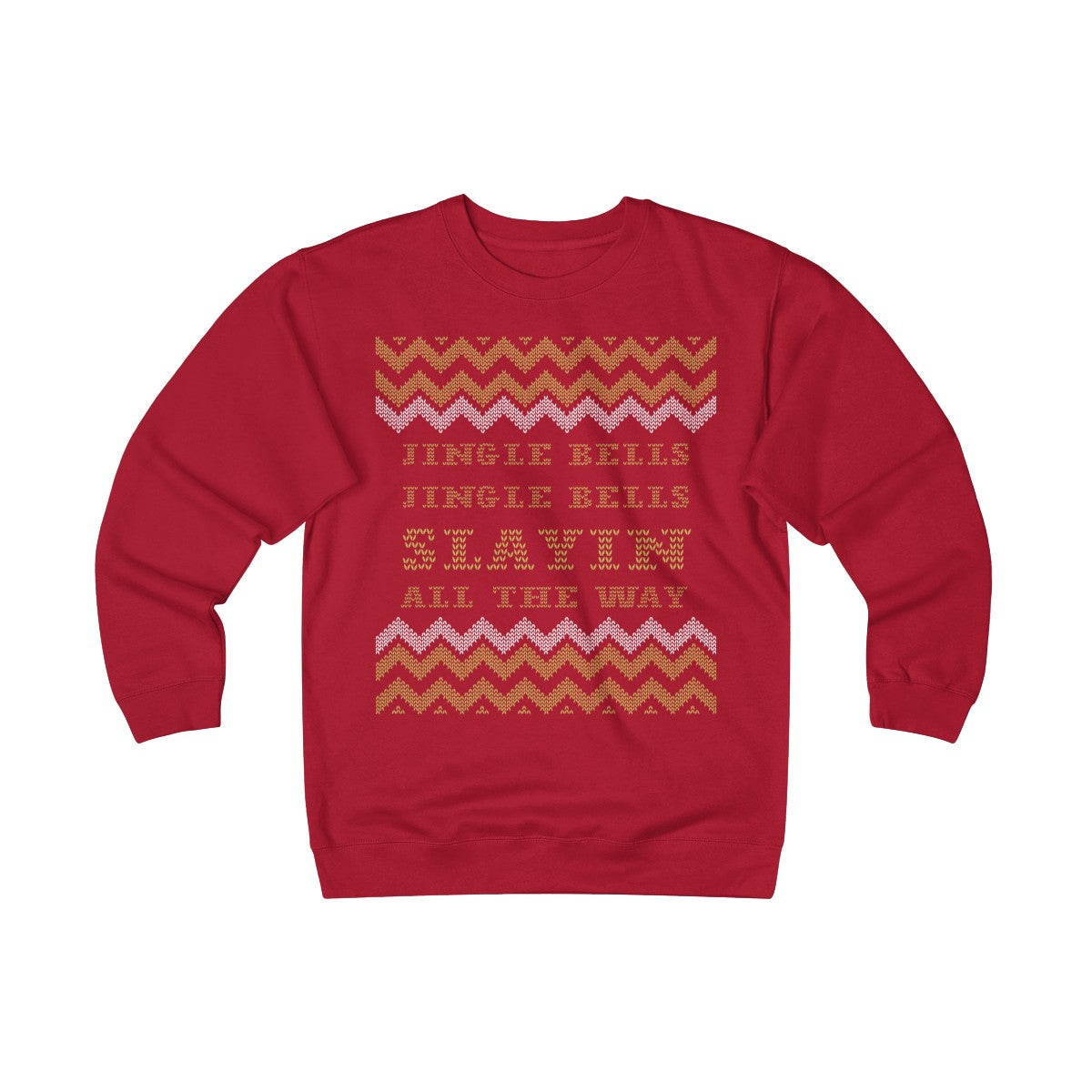 Jingle Bells Slayin All The Way Unisex Heavyweight Fleece Crew