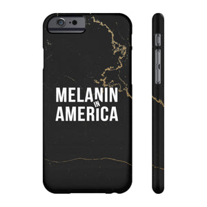 Melanin in America Gold Marble Case Mate Slim Phone Cases