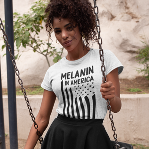 Melanin in America White Women's Softstyle Tee