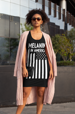 Melanin in America Women's Cut & Sew Racerback Dress