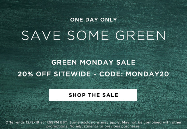Lila Ryan Green Monday Sale: Take $20 Off Your Entire Order Code MONDAY20