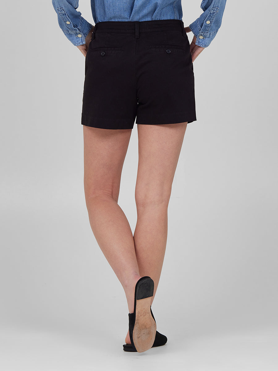 Womens Black Susannah Short 6