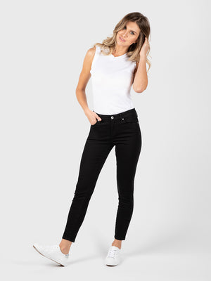 Womens Black Louise Skinny Ankle 2