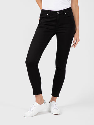 Womens Black Louise Skinny Ankle 4