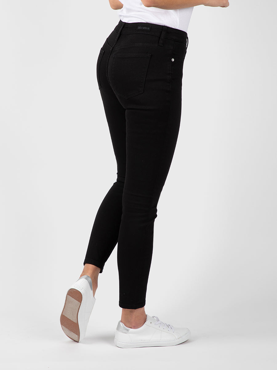 Womens Black Louise Skinny Ankle 6