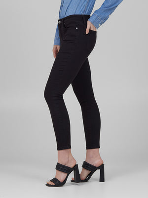 Womens Black Louise Skinny Crop 4