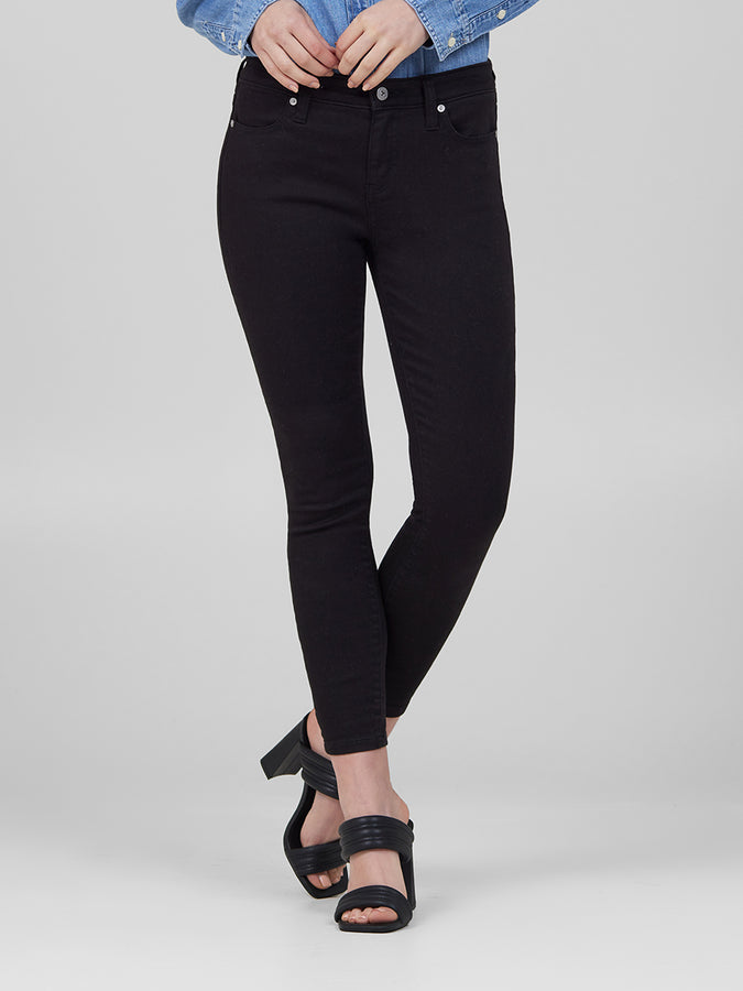 Womens Black Louise Skinny Crop