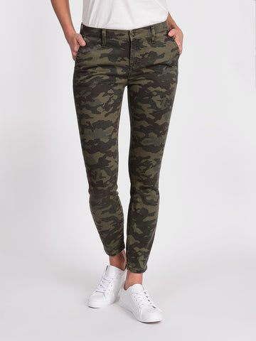 Womens Camo Gemini Slash Pocket Skinny Ankle
