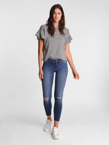 Womens Damen w/ Destruction Louise Skinny Ankle