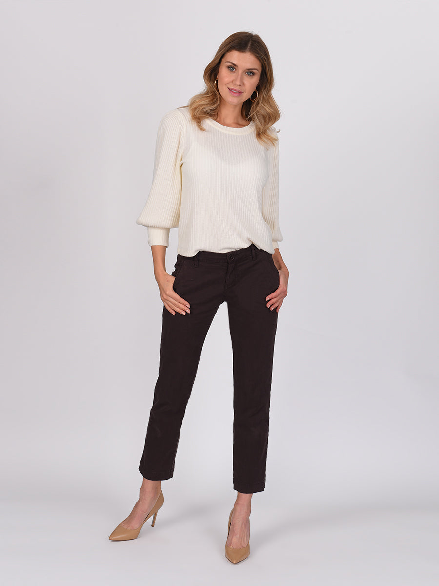 Womens Dark Espresso Melina Tall Straight Leg Chino 2