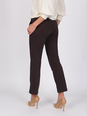 Womens Dark Espresso Melina Tall Straight Leg Chino 4
