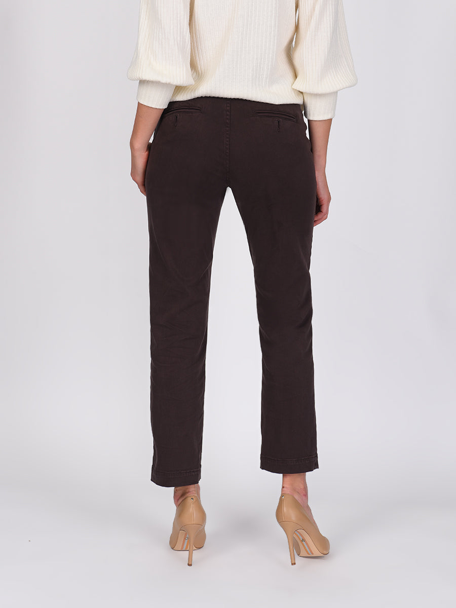 Womens Dark Espresso Melina Tall Straight Leg Chino 6