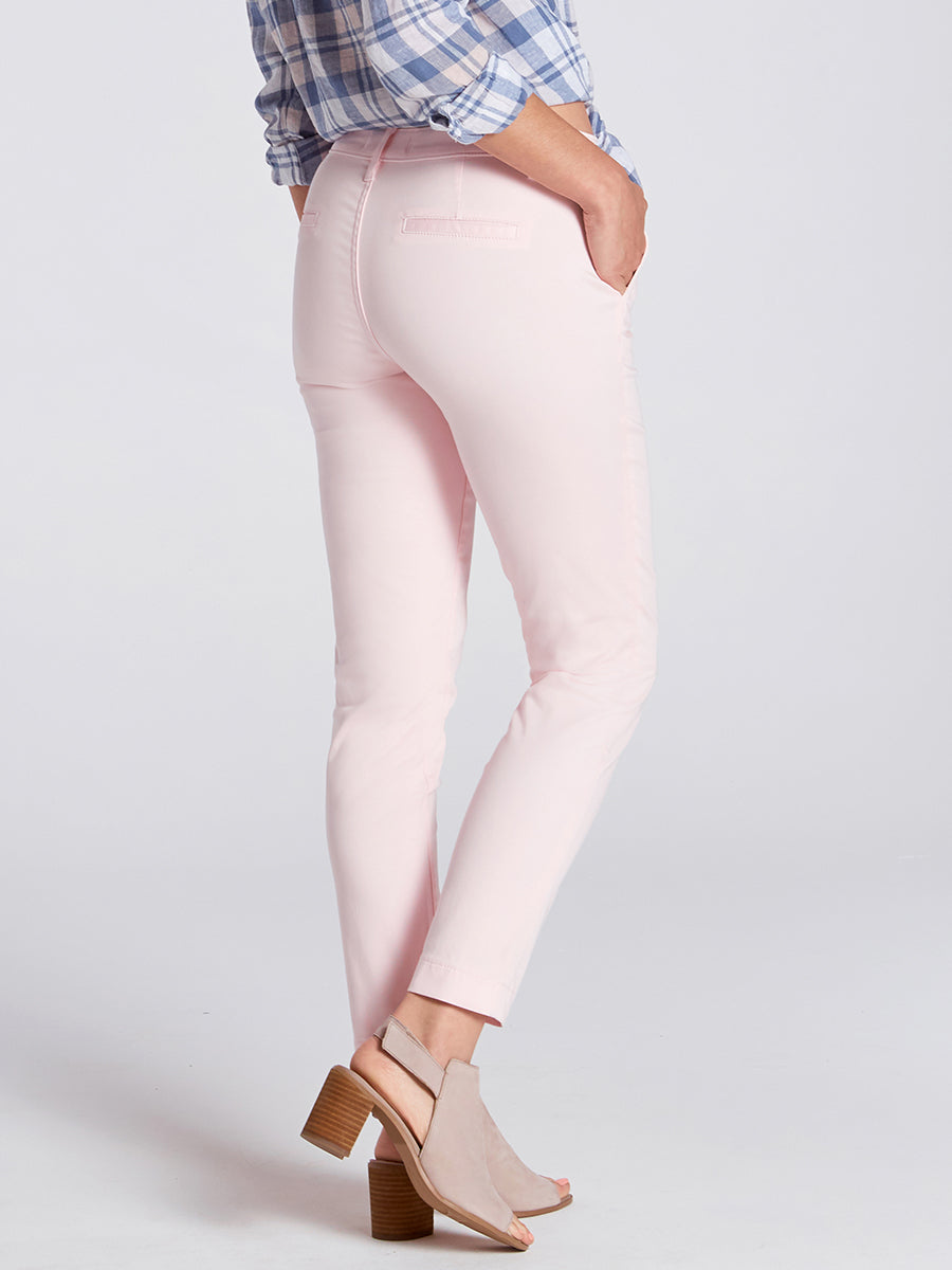 Womens Heavenly Pink Misha Slim Chino 6