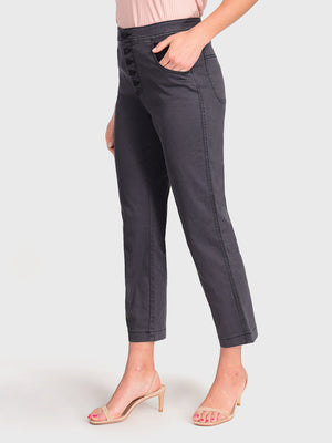 Womens Meteorite Jess Button Front High-Rise Straight Leg Chino 4